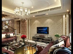 客厅,480平,42万,新古典,别墅,客厅,