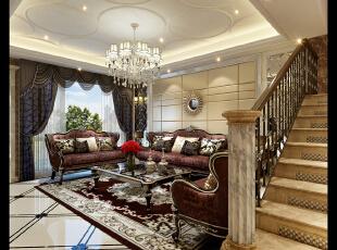 客厅,480平,42万,新古典,别墅,客厅,玄关,