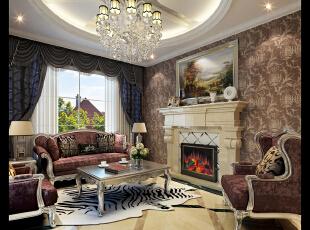 门厅,480平,42万,新古典,别墅,客厅,