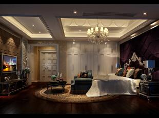 主卧室,480平,42万,新古典,别墅,卧室,