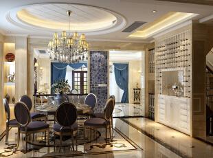 餐厅,450平,38万,新古典,别墅,餐厅,
