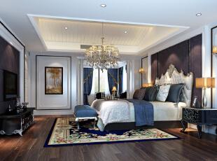 主卧室,450平,38万,新古典,别墅,卧室,