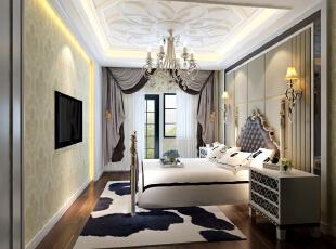 次卧,450平,38万,新古典,别墅,卧室,