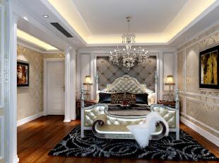 主卧,380平,45万,新古典,别墅,卧室,