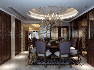 餐厅,45万,新古典,别墅,餐厅,