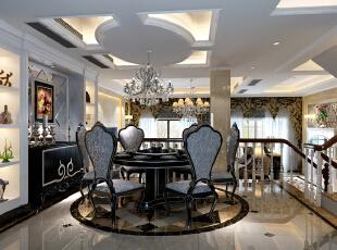餐厅,350平,42万,新古典,别墅,餐厅,