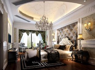 主卧,350平,42万,新古典,别墅,卧室,