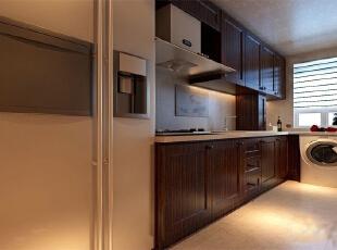 芍药居北里92平简约二居室-厨房,92平,8万,欧式,两居,厨房,现代,简约,白色,原木色,黄色,