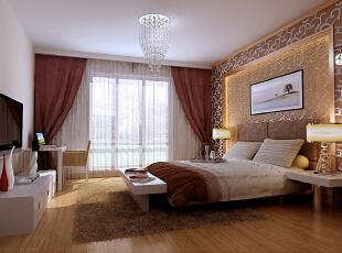 芍药居北里92平简约二居室-卧室里面继续呼应客厅的效果,因为客户喜欢暗花玻璃的感觉,加上同色壁纸辅助配合,暗藏灯带光效果,让进入卧室的人会有精神上的安逸和视觉的豁然开朗。加上白漆的配合,给人温馨的卧室感觉。,92平,8万,欧式,两居,卧室,现代,简约,白色,原木色,黄色,