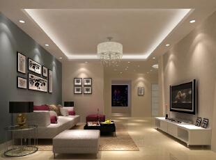 极致的简约·经济时尚·沙发背景的颜色增加了空间的立体感··,16万,三居,客厅,简约,白色,