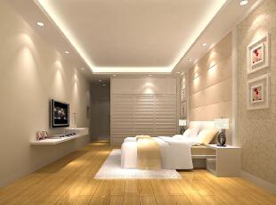,150平,16万,现代,三居,卧室,白色,