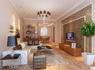 曙光花园95平简欧大两居-客厅 奢华时尚的设计元素,合理的功能分区一直是业主所喜爱的生活方式。清新淡雅中不乏一种追求个性、现代、时尚的感觉。,95平,8万,欧式,两居,客厅,现代,简约,白色,原木色,粉色,