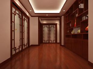 ,160平,22万,中式,三居,餐厅,原木色,