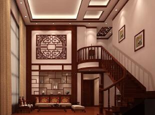 ,160平,22万,中式,三居,客厅,原木色,