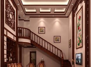 ,160平,22万,中式,三居,原木色,客厅,