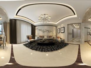 360大厅餐厅全景,现代的气息,主人要的时尚完美呈现出来。,185平,13万,现代,跃层,