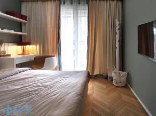,129平,10万,现代,三居,卧室,原木色,绿色,