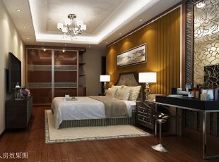 ,150平,21万,中式,三居,卧室,原木色,白色,