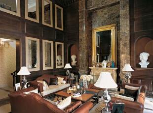 ,368平,68万,美式,别墅,客厅,黄色,
