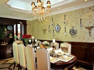 ,368平,68万,美式,别墅,餐厅,白色,原木色,