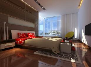,56平,6万,现代,一居,卧室,白色,原木色,
