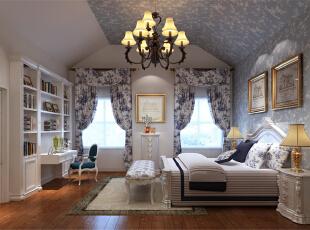 ,200平,18万,混搭,四居,卧室,白色,蓝色,