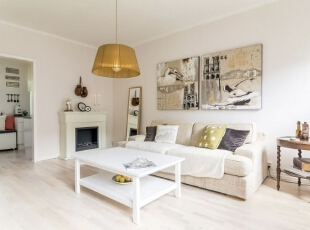 ,43平,5万,现代,一居,客厅,白色,