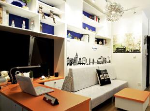 ,28平,3万,现代,一居,客厅,白色,