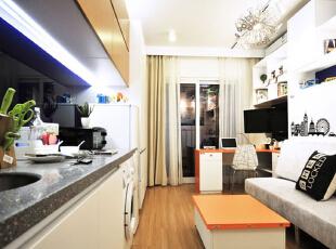 ,28平,3万,现代,一居,厨房,白色,