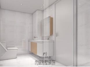在本案的设计中,主卧、卫浴的搭配风格,包括吊灯,落地灯,装饰品等等,无不在视觉上透出简约的神韵,精准雅致。,400平,170万,简约,卫生间,白色,