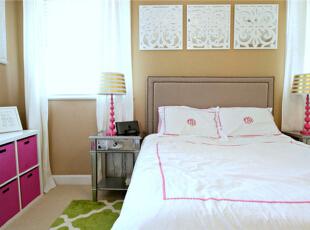 ,90平,9万,现代,两居,卧室,黄色,