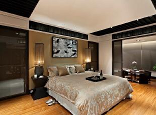 ,185平,25万,新古典,三居,卧室,黑白,黄色,