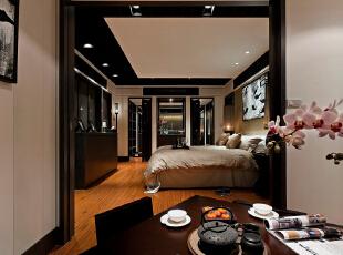 ,185平,25万,新古典,三居,卧室,黑白,
