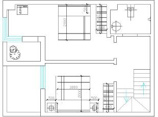 1楼平面布局图,120平,10万,现代,三居,黑白,