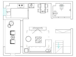 二楼平面布局图,120平,10万,现代,三居,