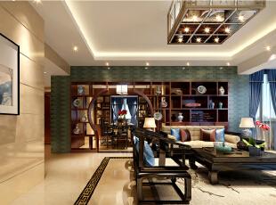 """""""回归""""融合了庄重与优雅双重气质。更多地利用了后现代手法,把传统的结构形式通过重新设计组合以另一种民族特色的标志符号出现,145平,12万,中式,三居,客厅,红色,"""