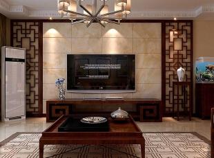 ,153平,16万,中式,三居,客厅,原木色,