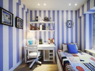 ,110平,16万,地中海,两居,儿童房,紫色,白色,