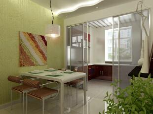鸿博家园81平简约清新两居-,81平,5万,简约,两居,餐厅,现代,白色,春色,
