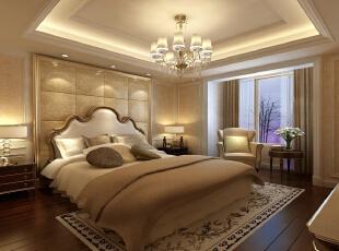 新华街三里118平欧式三居-卧室 温馨浪漫的主卧室。,118平,10万,欧式,三居,卧室,黄色,