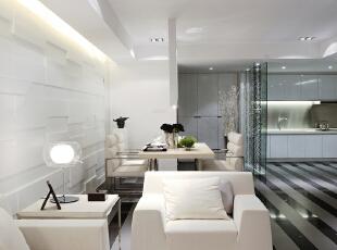 设 计 风 华、装 点 都 市。,165平,25万,现代,三居,简约,客厅,黑白,
