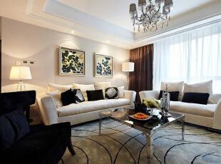 ,120平,86800万,现代,三居,客厅,白色,