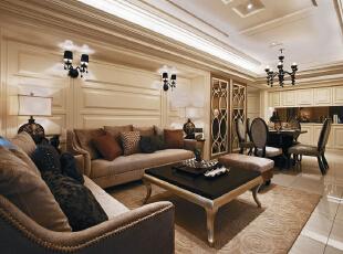 ,126平,95800万,新古典,三居,客厅,白色,