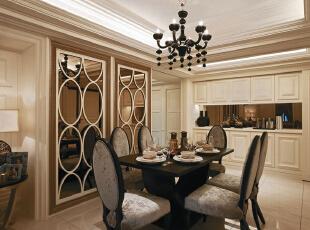 ,126平,95800万,新古典,三居,餐厅,白色,