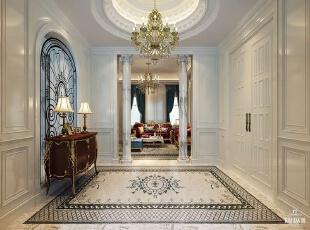 ,700平,120万,欧式,别墅,门厅,白色,