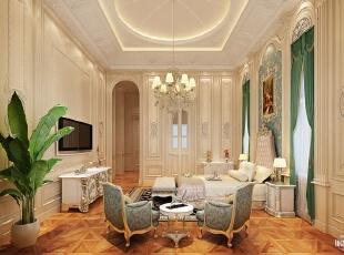 ,700平,120万,欧式,别墅,卧室,白色,原木色,