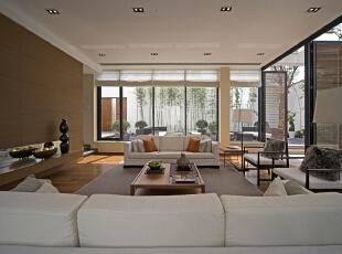 ,490平,130万,中式,别墅,客厅,原木色,白色,