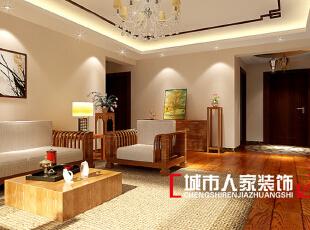 ,170平,10万,中式,三居,客厅,原木色,白色,