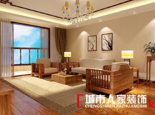 ,170平,10万,中式,三居,客厅,白色,原木色,