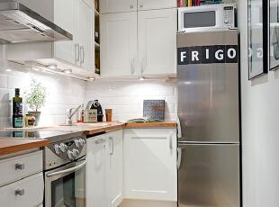 ,45平,5万,现代,一居,厨房,白色,